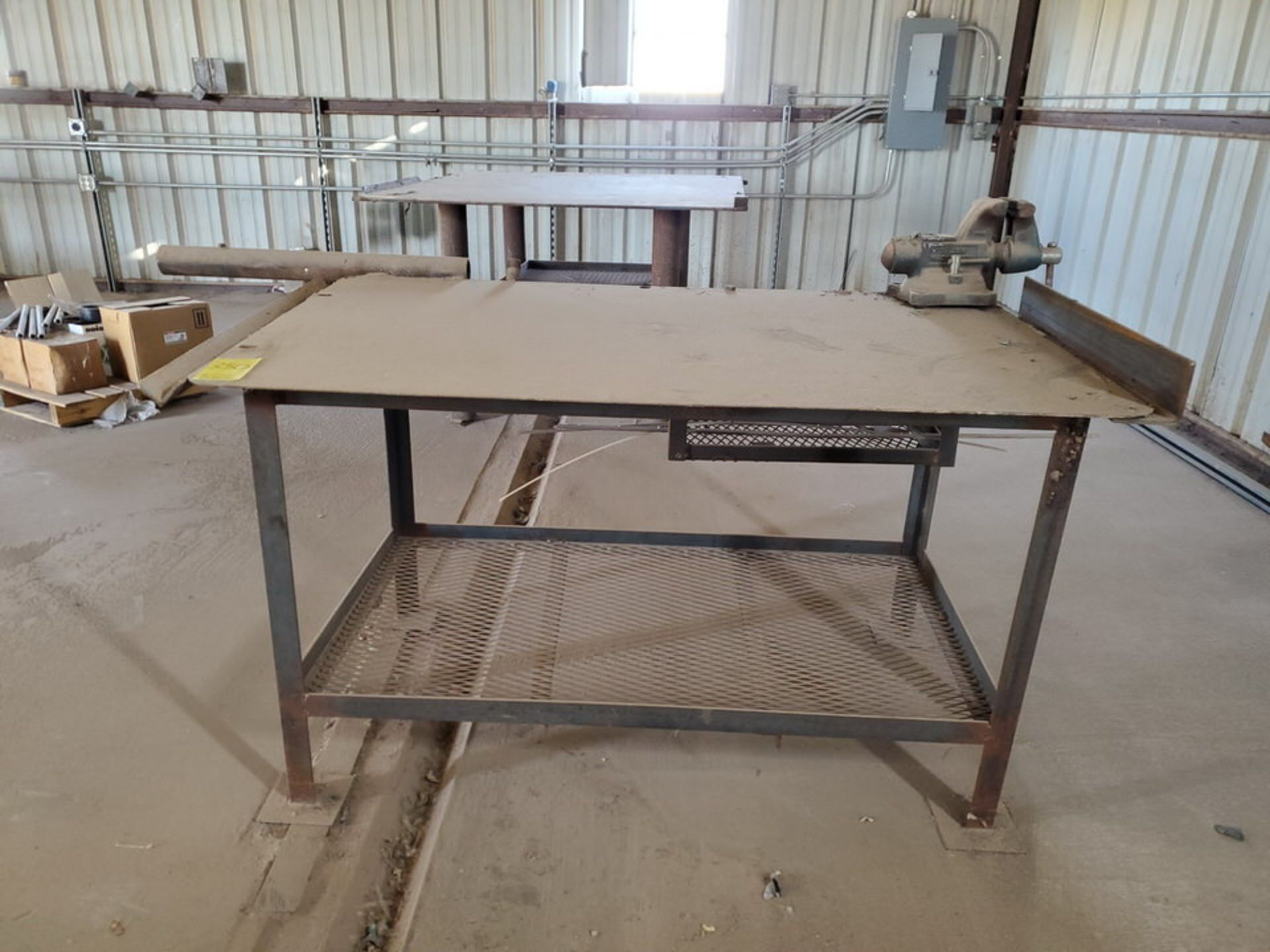 """Welding Tables (1) 37"""" x 65"""" x 36"""", W/ 5-1/2"""" Vise, (1) 72"""" x 64"""" x 38"""" - Image 6 of 8"""