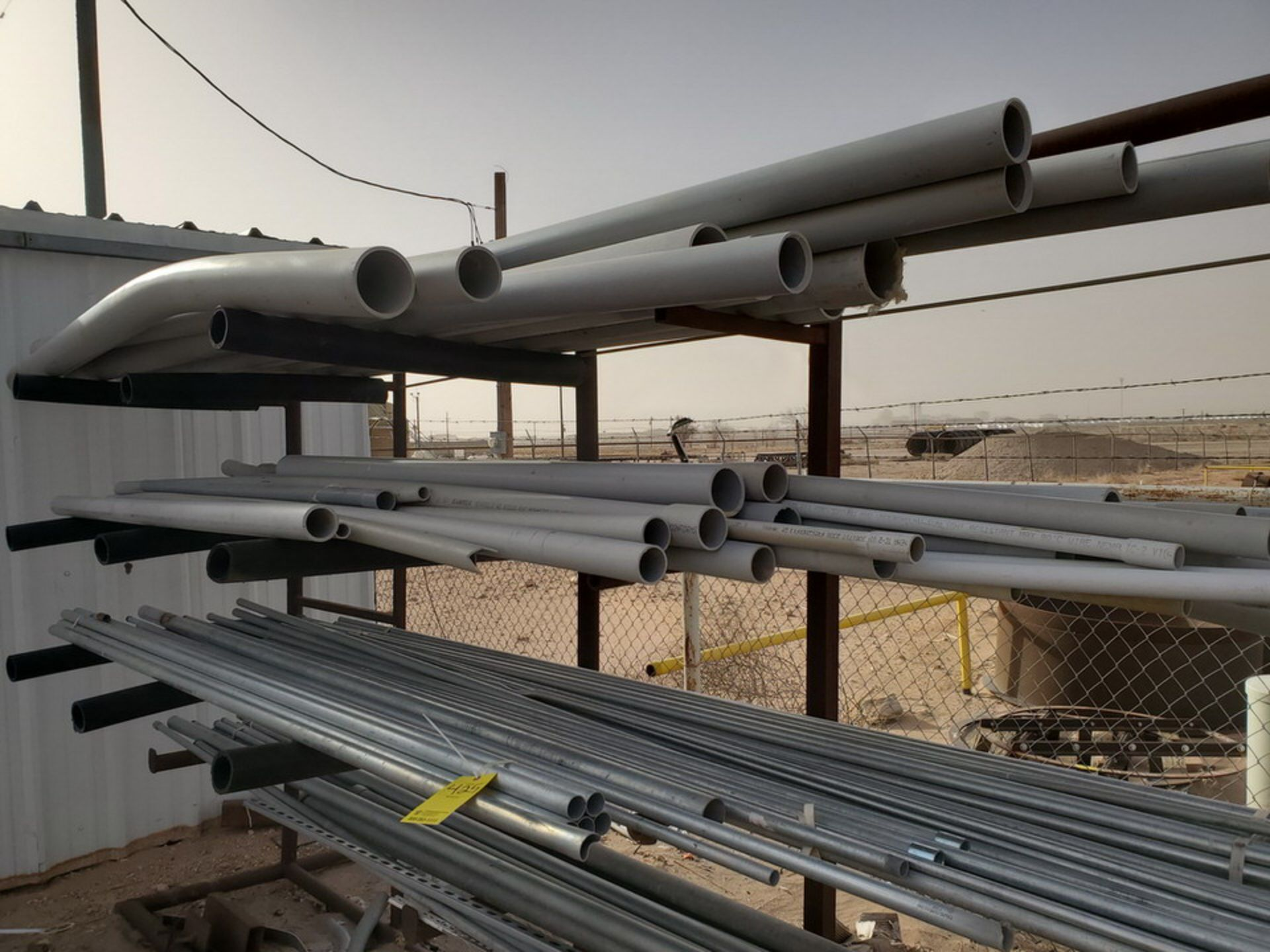 "PVC & Alum. Pipe W/ Conduit Size Range: 1/2"" - 4"" W/ Rack - Image 8 of 18"