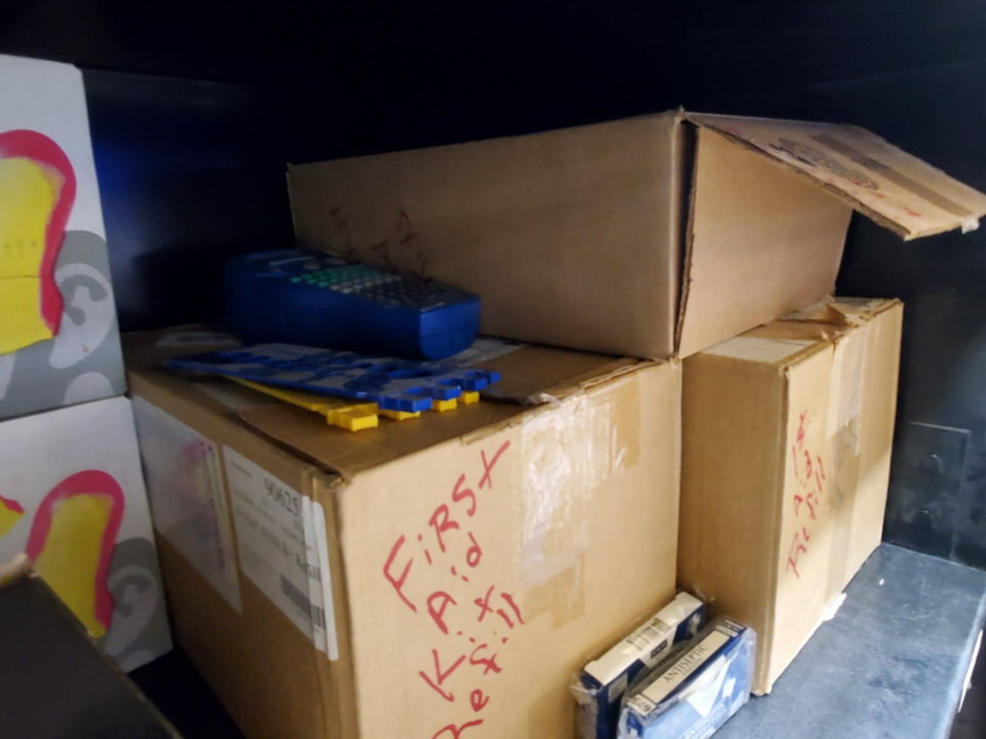 Metal Storage Locker To Include But Not Limited To: First Aid Refill Kits, Assorted Fittings, - Image 6 of 13