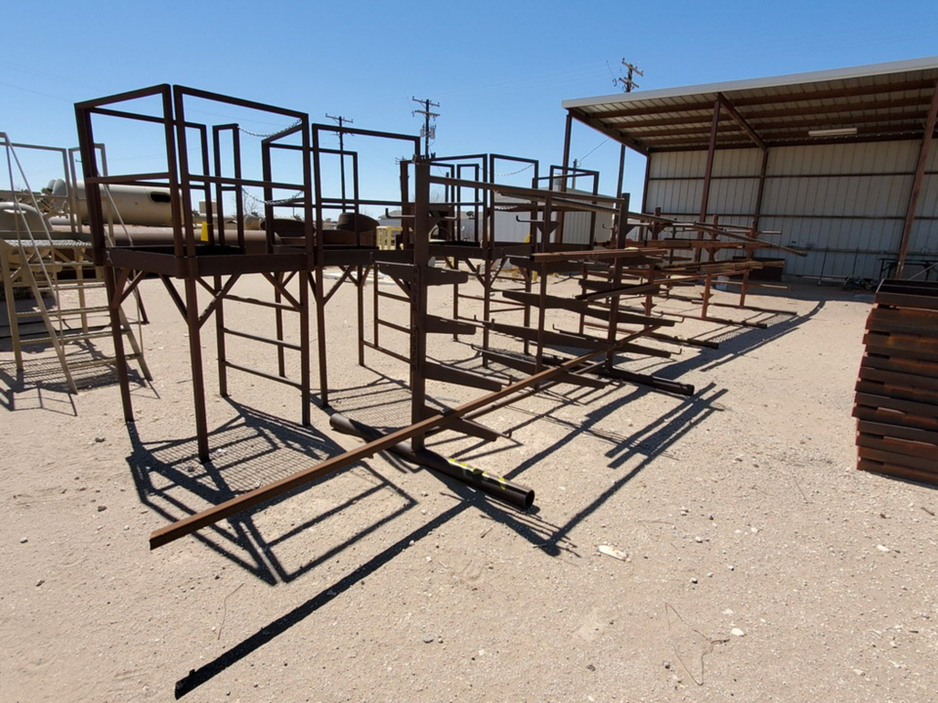 """(3) 3-Post Doublesided Cantilever Racks (2) 10' x 6' x 6'6"""", (1) 17' x 7' x 6'6"""" - Image 3 of 17"""