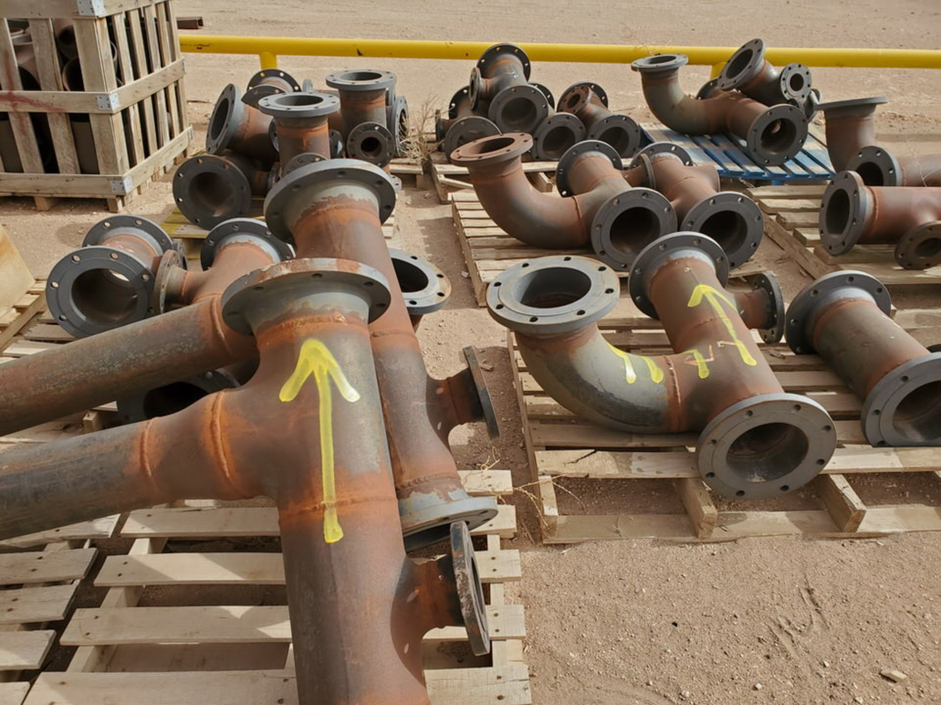"""(29) Flanged Pipe 22"""" - 82""""L - Image 13 of 15"""
