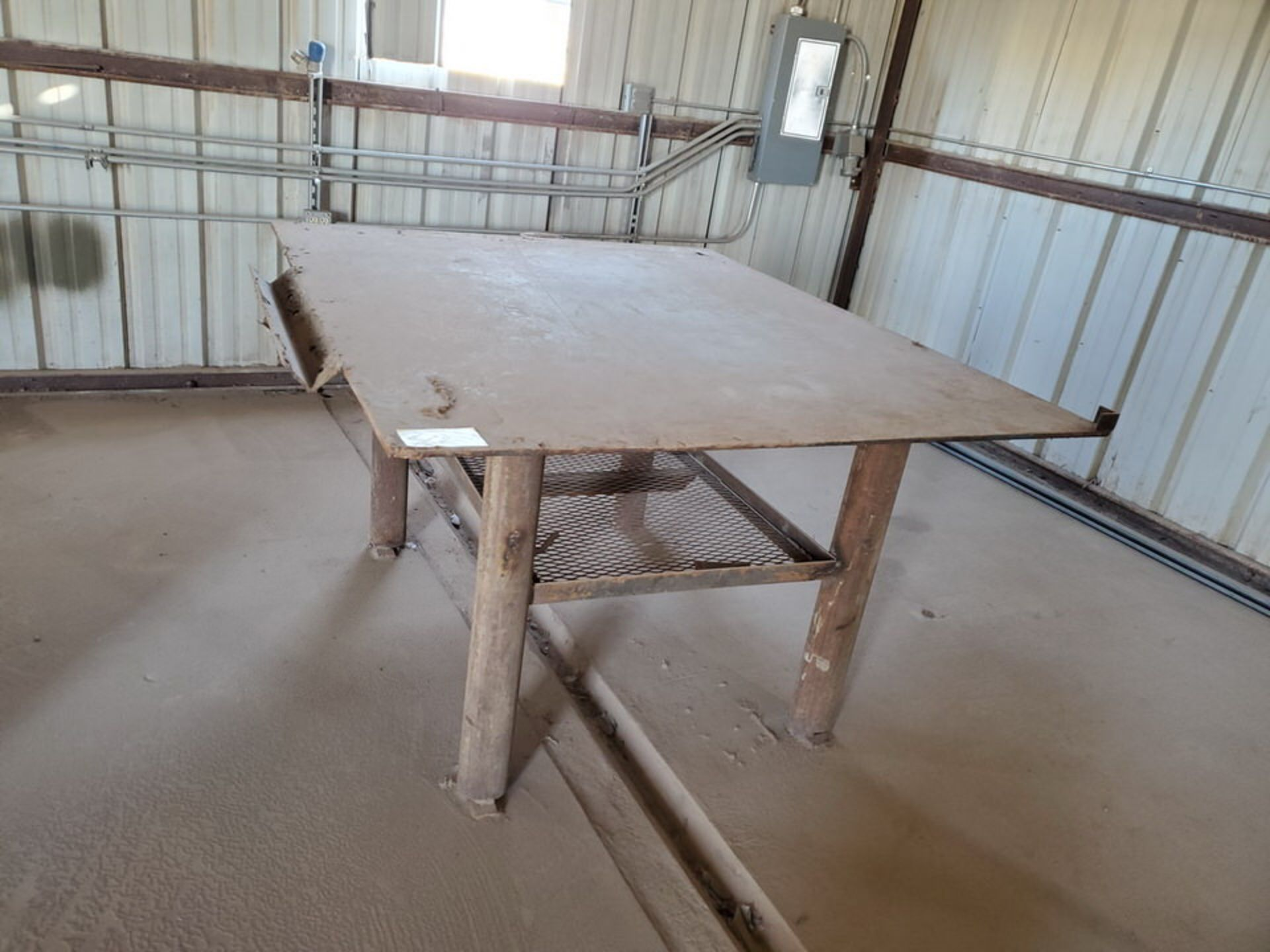 """Welding Tables (1) 37"""" x 65"""" x 36"""", W/ 5-1/2"""" Vise, (1) 72"""" x 64"""" x 38"""" - Image 3 of 8"""