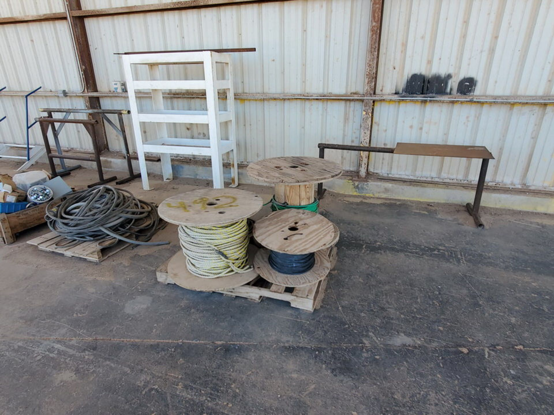 Misc. Matl. To Include But Not Limited To: Lift Basket, Welding Table, Sheet Metal, Ele Wire, Rope - Image 5 of 13