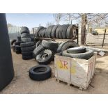 Assorted Tires W/ Rack
