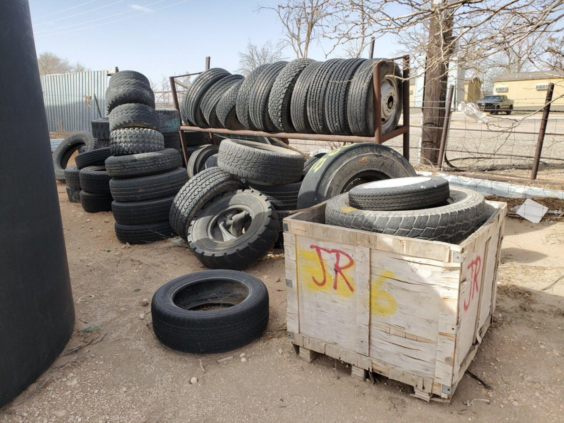 Assorted Tires W/ Rack
