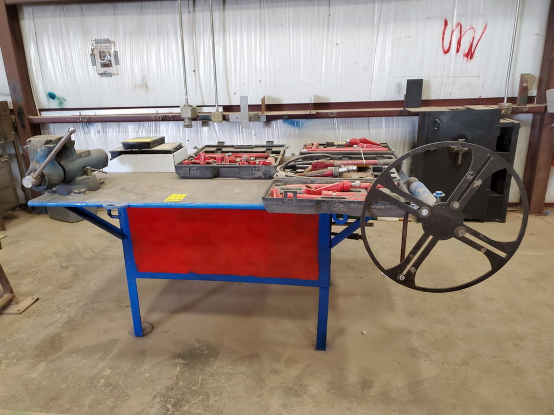 "Stl Welding Table W/ 6"" Vise 48"" x 70"" x 35""H (Material Excluded) - Image 2 of 8"