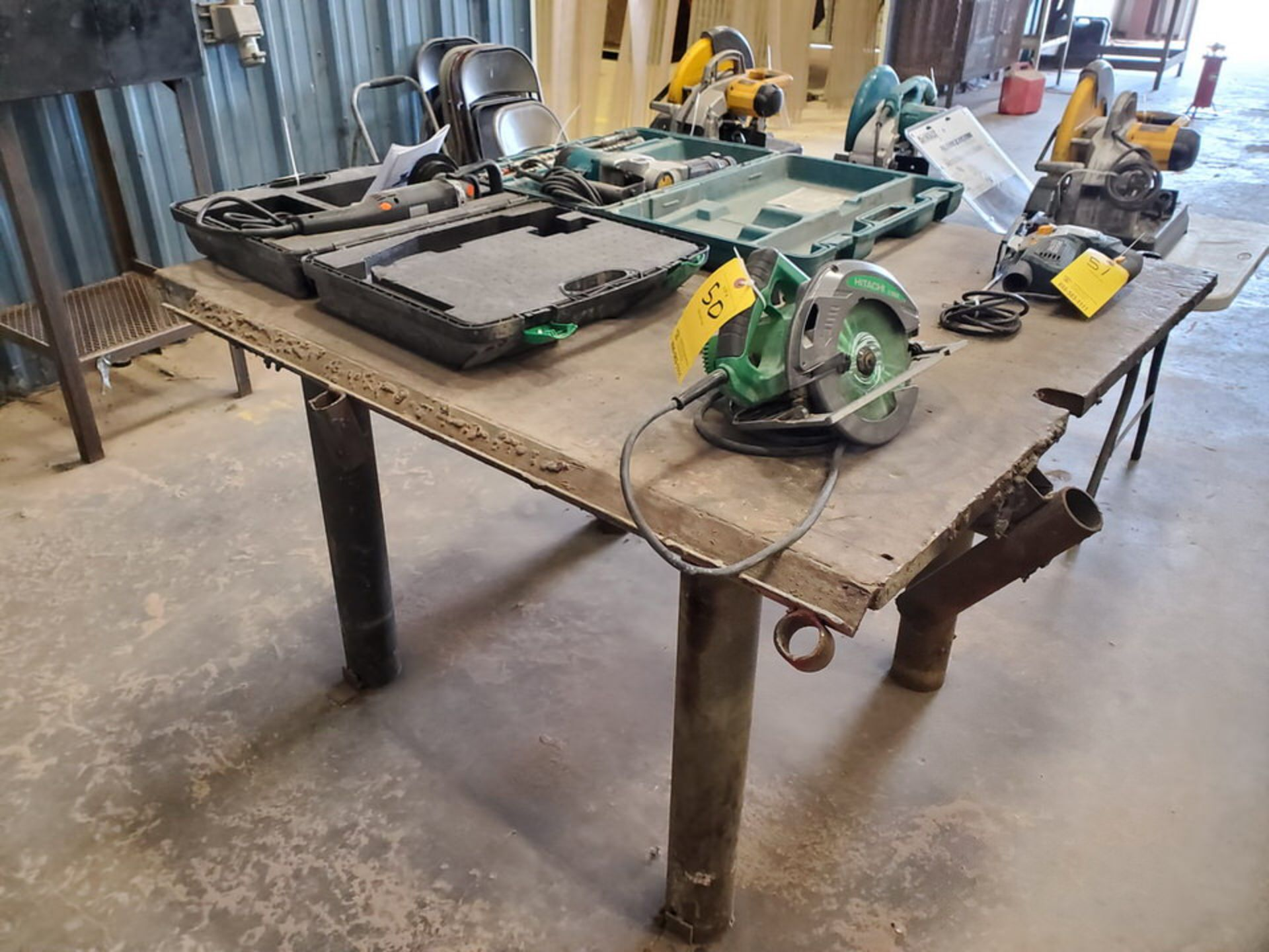 """(2) Stl Welding Tables (1) 72"""" x 72"""" x 37'H; (1) 51"""" x 54"""" x 37""""H - Image 6 of 8"""
