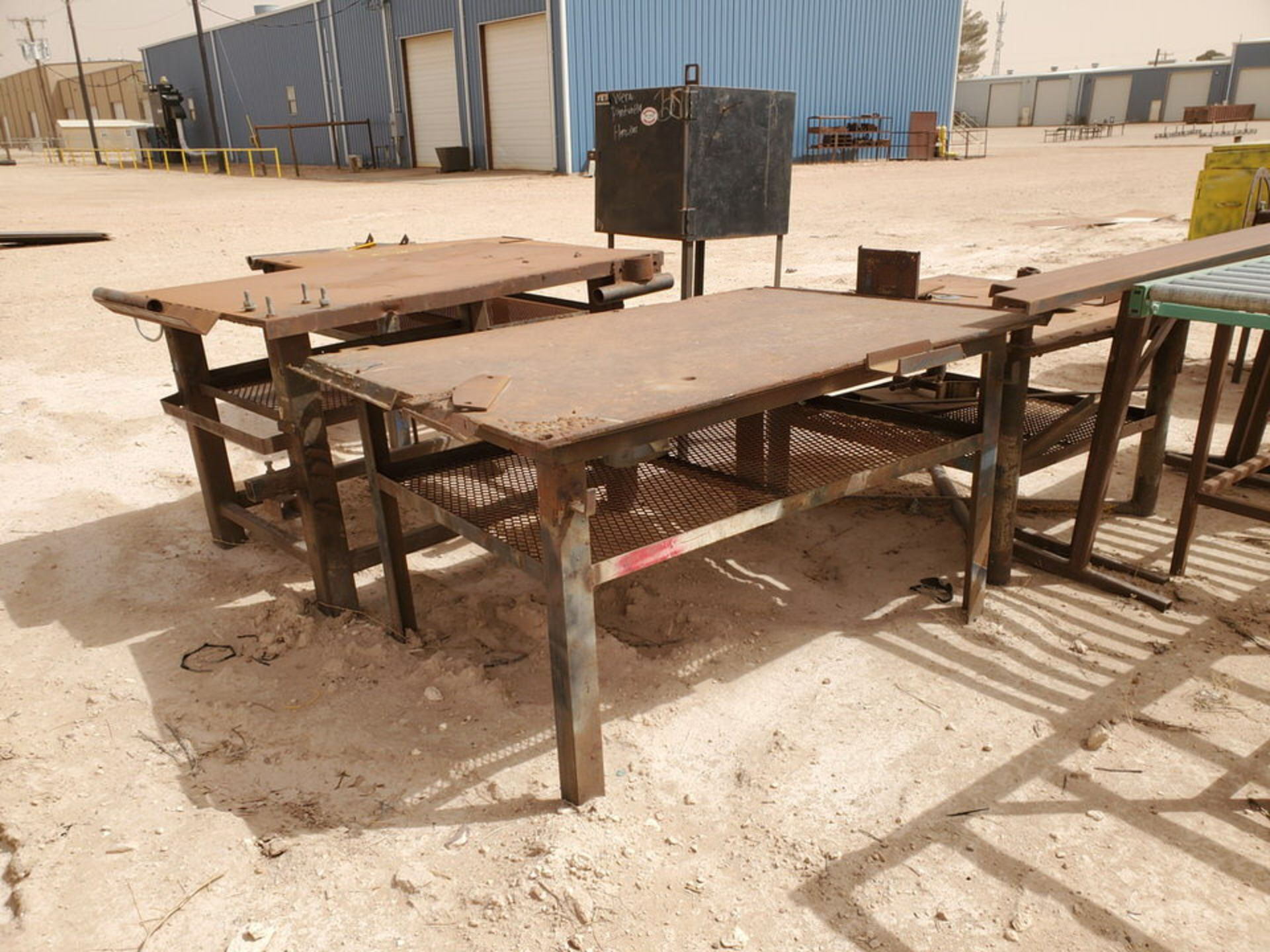 Assorted Matl. To Include But Not Limited To: (3) Welding Tables, Rolling Conveyor, Storage - Image 6 of 11