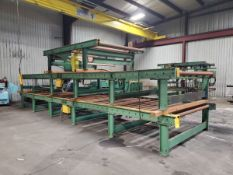 """(3) Motorized Roller Conveyors (2) 25' x 84"""" x 29""""H (76"""" Feed Roll); (1) 10' x 84"""" x 29""""H (76"""" Feed"""