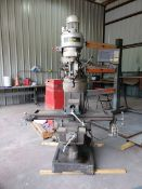 """Enco Bridgeport Vertical Mill 42"""" x9"""" Slotted Table; W/ 6"""" Vise; W/ Anilam Wizard 411 Controller;"""