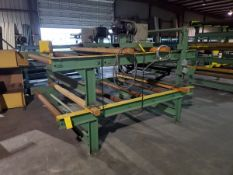 """(11) Motorized Roller Conveyors (10) 10' x 84"""" x 29""""H 74"""" Feed Roll); (1) 10' x 96"""" x 31-1/2""""H (84"""""""