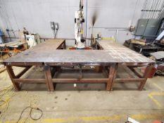 "2011 Daihen NV6L1-NEFU Robit Manipulator Table: 9'8"" x 11'8"" x 36""H; W/ DP400 OTC Digital"