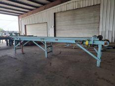 "Roach (4) Motorized Belt & Roller Conveyors 480V, 3PH; (1) 50' x 29"" x 4'H (10"" Belt); (1) 20'6"" x"