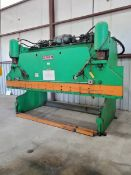 Pacific 14' x 150 Ton Hyd Press Brake W/ Control Panel, 480V, 84,443.8Hrs; W/ Hurco Autobend 7