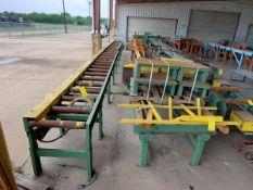 "Roach (8) Motorized Roller Conveyors (1) 39' x 31-1/2"" x 36""H (23"" Feed Roll); 30' x 31-1/2"" x 36"""