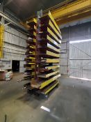 """2-Post Cantilever Rack 78"""" x 60"""" x 18'H Approx. 2' Deep (Raw Matl. Excluded)"""