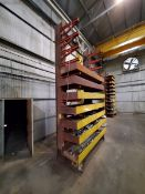 """2-Post Cantilever Rack 84"""" x 40"""" x 18'H Approx. 2' Deep (Raw Matl. Excluded)"""