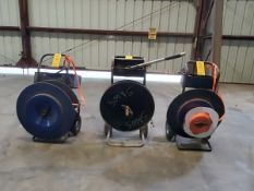 (3) Banding Carts W/ Polyester Strapping & Tooling