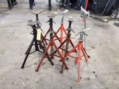 Ridgid (7) Pipe Stands W/ (1) Pipe Roller