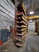 """2-Post Cantilever Rack 48"""" x 40"""" x 18'H Approx. 2' Deep (Raw Matl. Excluded)"""