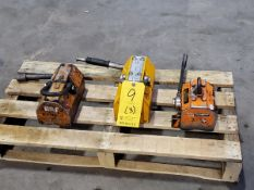(3) Assorted Lift Magnets 1,000Kg & Other