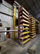 """2-Post Cantilever Rack 54-1/2"""" x 40"""" x 18'H Approx. 2' Deep (Raw Matl. Excluded)"""