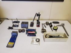 Assorted Inspection Tools To Include But Not Limited To: Plug Gages, 123 Blocks, Ring Gages, V-