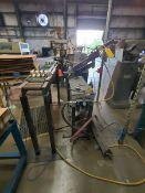 "Drill Press W/ Flex Arm; W/ Conveyor, 5' x 10"" x 3'6""H, W/ 7"" Feed"