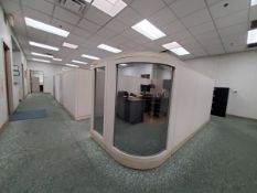 (6) Reception Area Cubicle Office Station (2) 4-Drawer Vertical File Cabinets; (4) Single Door File
