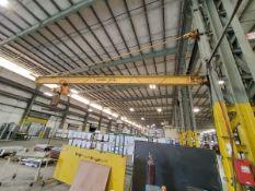 Gorbel 2 Ton Crane W/ 2 Ton Harrington Hoist, 2-Button Pendant