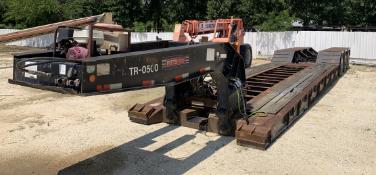 Pitts LB52-24D Hydraulic Detachable Neck Lowboy Trailer, 104,000 lbs Load Capacity