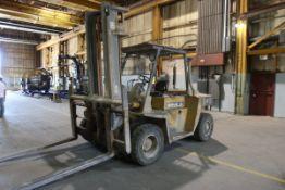"""Caterpillar DP70 Forklift, Cap: 15,500 lbs, Lift Ht: 197"""", Pneumatic Tires"""
