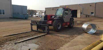 "2014 Manitou MLT840-115 Telescopic Forklift, Max Lft Ht: 24'9"", Max Cap: 8,818 lbs, w/ Quick Attach"