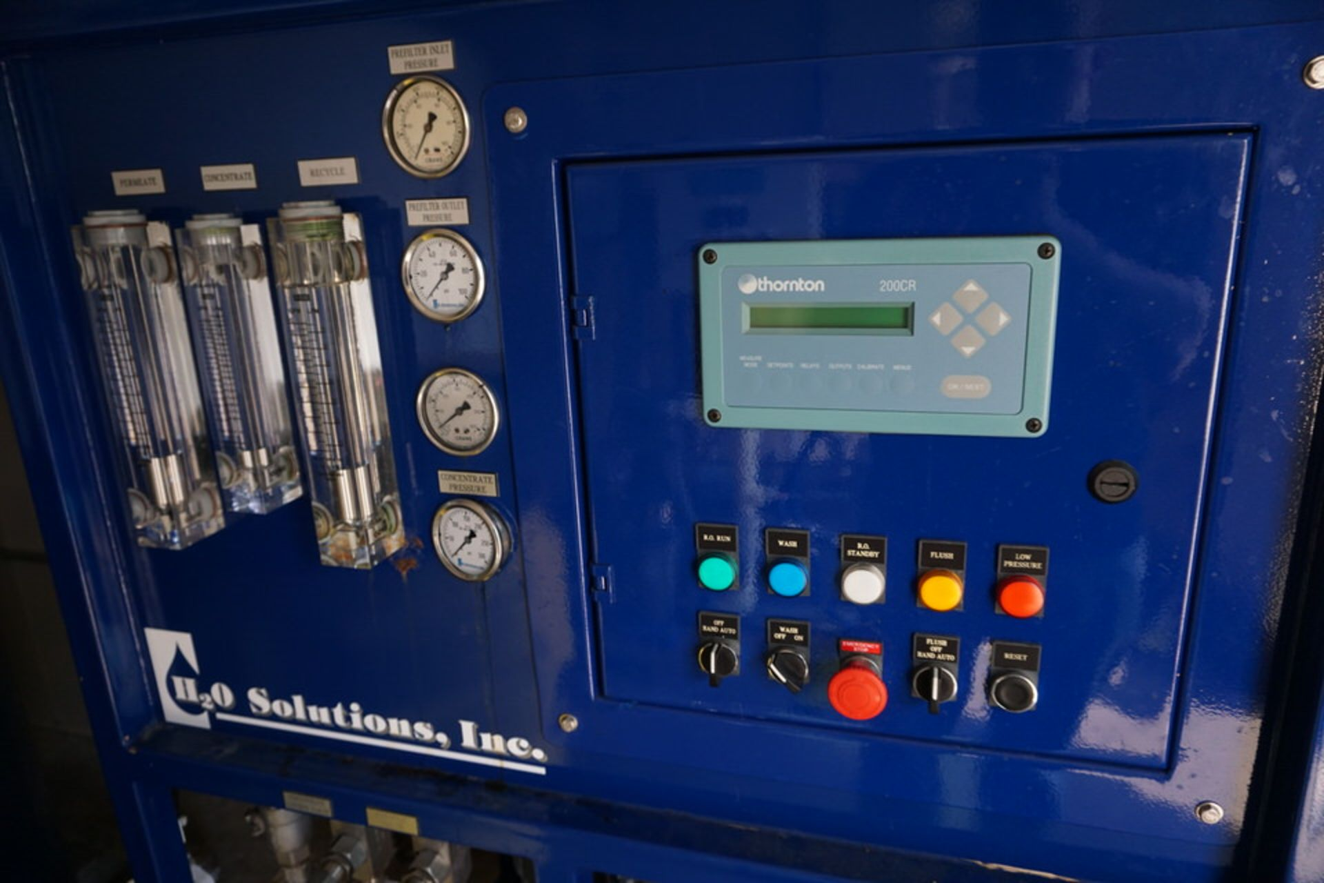H20 SOLUTIONS INC DI WATER PLANT W/ THORNTON 200CR CONTROL - Image 11 of 12