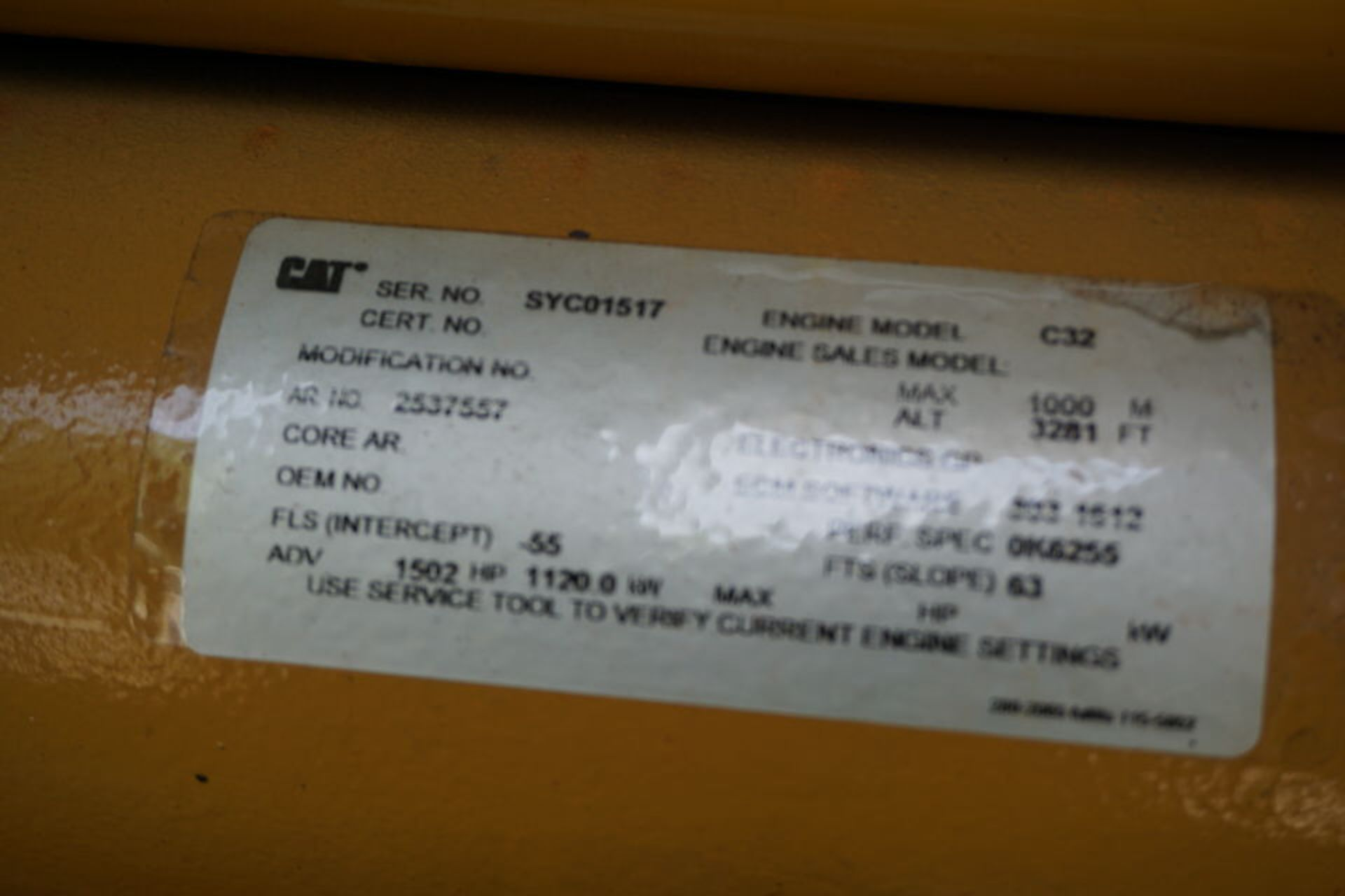 2007 CATERPILLAR BACK UP GENERATOR, ENGINE MODEL: C32 W/ EMCP3.3 CONTROL, 173.9 HOURS, 1250 KVA - Image 16 of 25