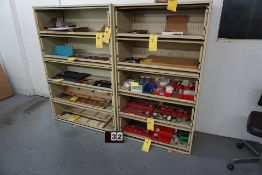 """(3) STORAGE CABINETS W/ PULLOUT SHELVES, 18"""" DEEP X 42"""" WIDE X 65"""" TALL, NO CONTENTS"""