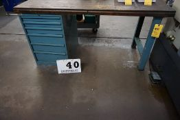 """WORK BENCH (6) DRAWEER W/ ASSORT INSERTS & TOOLING, APPROX 30"""" X 72"""""""