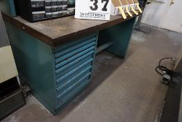 """WORK BENCH 30"""" X 72"""", 8 DRAWER W/ CONT, ASSORT TOOLING"""