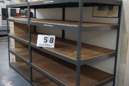 SHELVING (2) SECTIONS APPROX 5'W X 4'D X 6'T