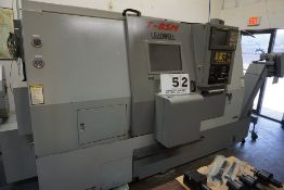LEADWELL T-8SM CNC LATHE, 5 AXIS, FANUC 18-I TB CONTROL, FULL AXIS ON BOTH SPINDLES, 12 POSITION