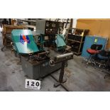 """PEERLESS PRODUCTION CUTTING HIGH SPEED AUTOMATIC BANDSAW, MDL: HB1010AE, CUTS 11""""W X 10""""H, BLADE"""