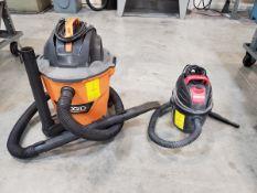 Ridgid Wet/ Dry Vac 5HP, 9A, 60HZ; W/ (1) Shop Vac, 2.5HP, 2.5gal, 9.4L