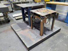 Hyd Air Table W/ Platform (Grinding Industrial Table Lot 13 Excluded)