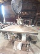 BRYON MACHINE CO. ROUTER TABLE 4FT BY 8FT TABLE TOP