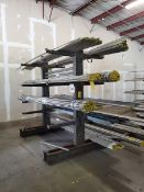 """Double-Sided Cantilever Rack 77"""" x 64"""" x 96"""", 2' Deep (Matl. Excluded)"""