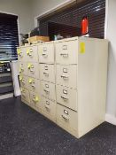 (4) 4-Drawer Vertical File Cabinets