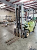 "Clark C500-S80 LP Forklift 5,800Cap., 1,410hrs, 42"" Forks, Single-Stage Mast, 147"" Lift Height"