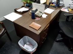 Contents Of (2) Office Rooms (2) 5-Caster Chairs, (2) Leather Chairs, (1) 6-Drawer Desk, (2)