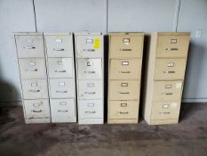 (5) 4-Drawer Vertical File Cabinets