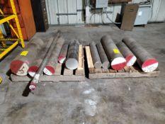 "Raw Matl. (27 Pcs) Grade: 416A, Size Range O.D: 1-3/8"" - 10"" (3) Pallets"